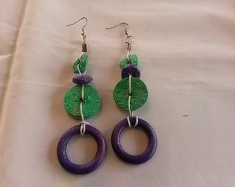 Handmade BOHO earrings.
