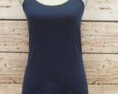 Navy Layering Tank - Free Shipping to USA - lots of colors, adjustable straps