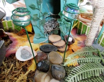 Fairy Garden Accessories, 2 Decorative Fairy Lights, Enchanted Fairies, Fairy items, Miniature Doll House Accessories, Woodland Fantasy