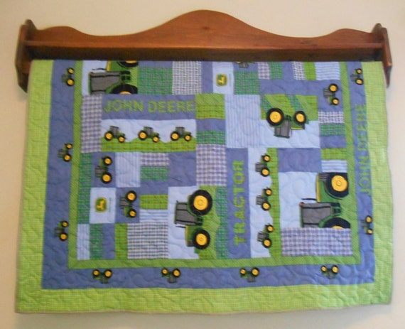 Tractor Clutch Blankets : John deere baby quilt tractor farming by jdhomegallery