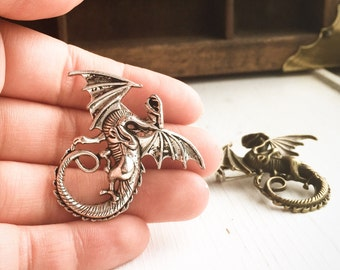 Dragon Brooch / Pick your finish
