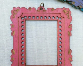 SMALL Mini Masterpiece Frame DIY Pendant *PINK*