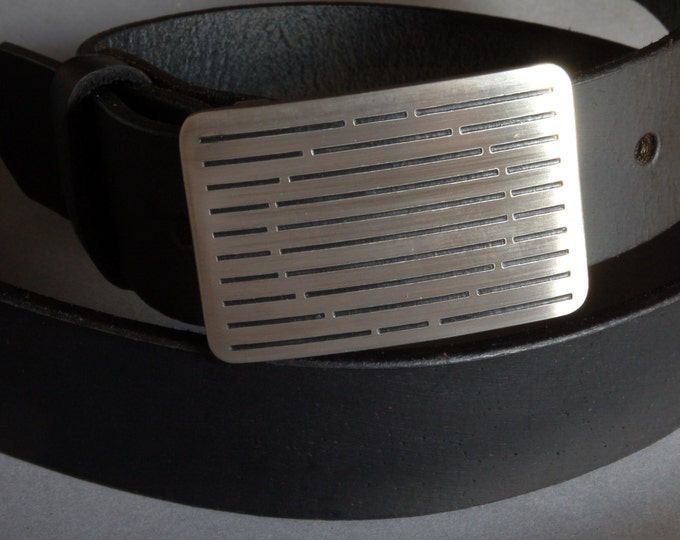 """Golfer's Belt Buckle Brushed Stainless Steel Golf Club Accessories Golf Attire Etched Hypoallergenic Buckle Fits 1.25"""" Leather Snap Belt"""
