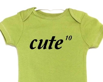 Funny Baby onesie Bodysuit Mathematical Power of Cute