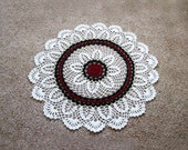 New Crochet Lace Doily Tablecloth, Large Centerpiece, Victorian Christmas Table Decoration, Holiday Home Decor, 23 Inches