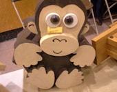Handmade Wooden Monkey Birdhouse