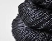 Black shadows - Silk/Merino DK Yarn Superwash