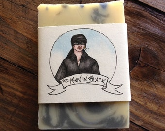 The Man in Black Princess Bride themed handmade soap