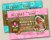 It's a Hawaiian Luau Custom Birthday Party Photo Invitation Design or any occasion