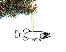 Muskie Fish Ornament