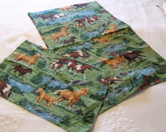 King Pillowcase and Infant PillowCase Wild Horses