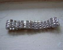 CLEARANCE Silver Sparkling Prong Set Rhinestone Bracelet