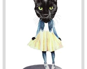 Cat Doll print - A3 print