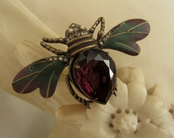 Vintage Graziano Winged Bug Pin