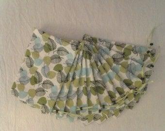cotton decorator fabric 4 x 6 drawstring bags leaf design one dozen