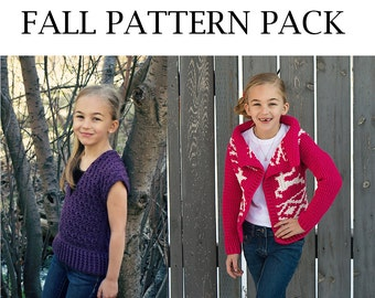 Girl's Fall Crochet Pattern Pack- PDF