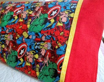 Super Hero Full Size  Pillow Case