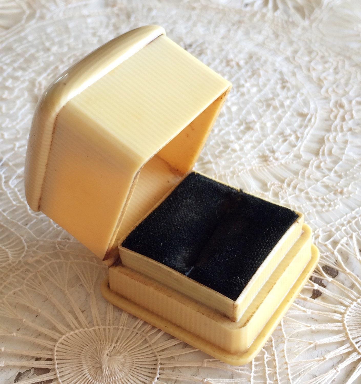 Antique Ring Box Wedding Engagement Vintage Ringbox Celluloid