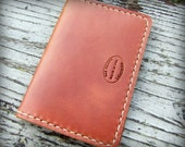 Mens Leather Wallet, Whiskey Brown Double Card Wallet, Leather Card Wallet, Front Pocket Wallet, Groomsmen Gift, Slim Wallet, Personalized