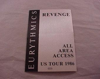 Eurythmics 1986 Backstage Pass