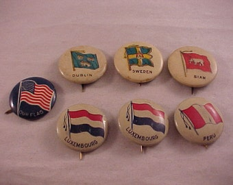 Vintage Pinback Buttons 1920s-1930s - Sweet Caporal Cigarettes Advertising Premium