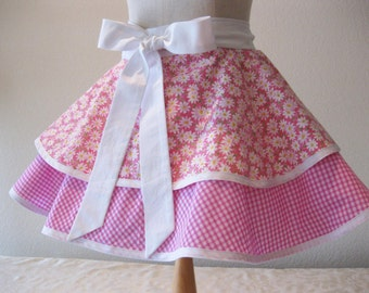 Fun and Flirty 2 Ruffle Half Apron
