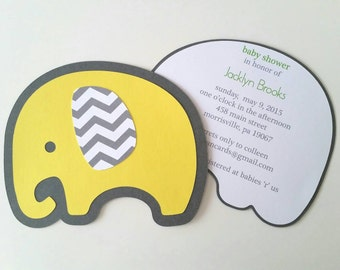 Baby Elephant Invitation - Pack of 10