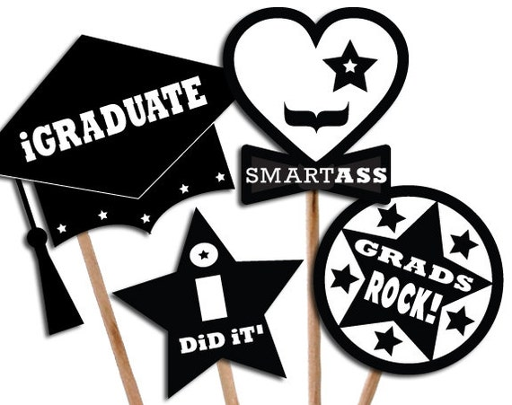 Exceptional image for printable graduation photo booth props