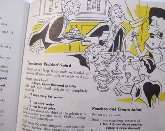 Vintage 247 Salads and Salad Dressings Cook Book Pamphlet 1957 First Edition Culinary Arts Institute CC Cooper Illustrator