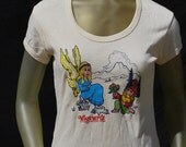 Vintage 70's souvenir t-shirt YOSEMITE park hippie Fairy gnome shrooms boho sexy fun t-shirt sM by thekaliman