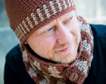 Crochet pattern : active hat and cowl
