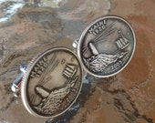 Maine State Quarter Cufflinks by Custom Coin Rings----Jewelry Cuff Links Handmade