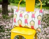 """SAMPLE Sale - Large """"Little Mira"""" Decorative Pillow - 14 x 24"""" - Artisan & Natural Textiles"""