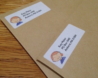 Custom Return Address Labels - Family Address Labels - Illustrated Address Labels - Custom Drawn Address Labels - Personalized Address Label