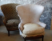 Customize chairs Hollywood Regency pair wing wingback accent side price includes custom paint and upholstery living room