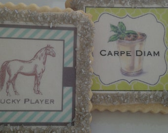 Kentucky derby cookie favors