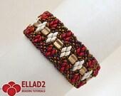 Tutorial Osseleta Bracelet-Beading Tutorial,Instant download,Beading Pattern,Jewelry Tutorial