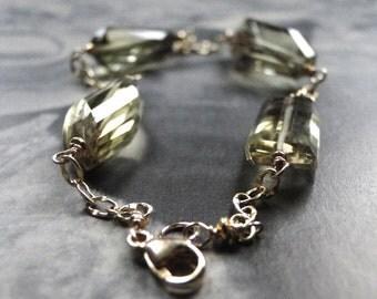LAST CALL SALE The Ball is Tonight......Going My Way Gemstone Bracelet, Accessories,14k Gold Filled, Quartz Gemstone Bracelet