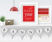 party supplies graduation | make your own banner | printable banners | flag banners | diy party decorations