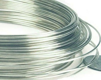 22 gauge 925 solid sterling silver round wire beading craft wrapping wire dead soft in coil