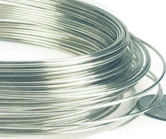 22 gauge 925 solid sterling silver round wire beading for 22 gauge craft wire