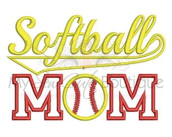Softball Mom Applique Design