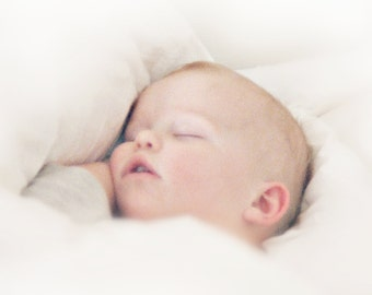 Sleeping Baby - Digital download - Art Photography - Infant - Peace - Dreamy