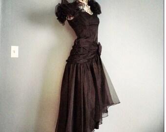 Stunning Black Organza Dress                 International Shipping