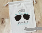 REGRET NOTHING - Personalized Favor Bags - Set of 10 - Bachelorette Party - Vegas