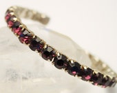 Vintage diamante bangle.  Purple crystal bangle. Rhinestone bangle.  Sparkling bangle