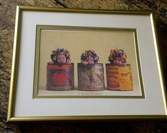 Vintage PaNsy BABIES by Anne Geddes - in Matted Frame