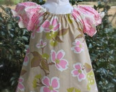 Baby Girl Peasant Dress, size 6-9 mo, Ready to Ship, Easter dress Spring dress