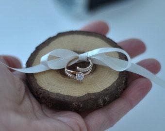 ring bearer pillow • red oak wood ring bearer pillow for wedding decor