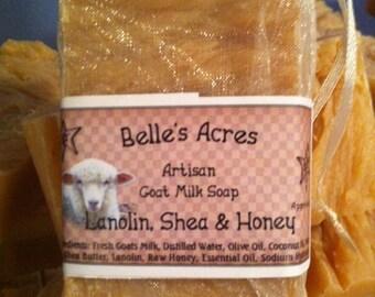 Goat Milk Soap Lanolin Honey and Shea Butter